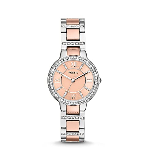 FOSSIL Womens Watch Virginia, 30mm case size, Quartz movement, Stainless Steel strap