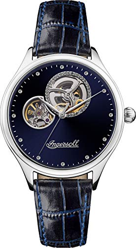 Ingersoll The Vamp Womens Automatic Watch I07002 with a Blue Dial and a Blue Genuine Leather Band