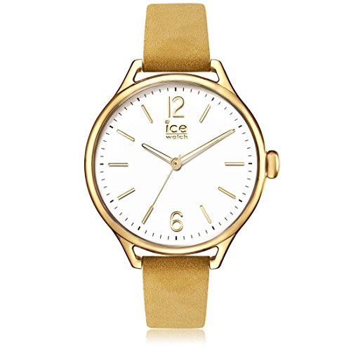 ICE-WATCH - ICE time Beige Champagne - Women's wristwatch with leather strap - 013060 (Medium)