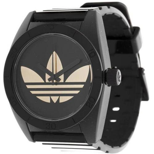 Adidas Originals Uhr schwarz mit silbernem Adidas-Emblem
