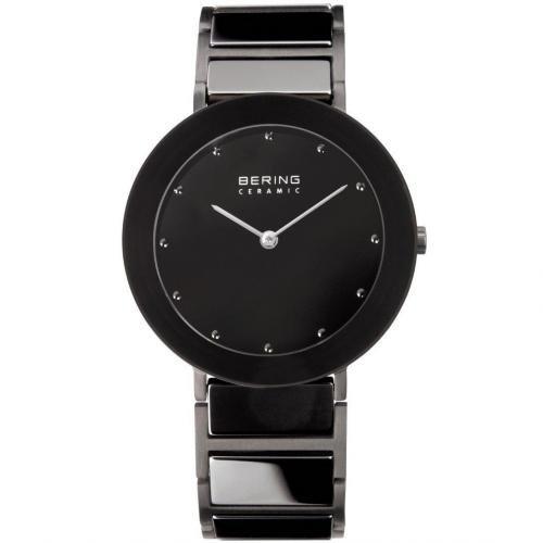 Bering Uhr schwarz aus Edelstahl