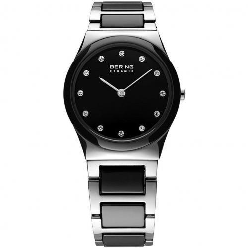Bering Uhr schwarz mit Klappverschluss