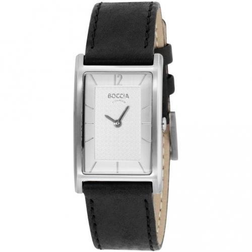 Boccia Titanium Uhr silber mit präzisem Uhrwerk