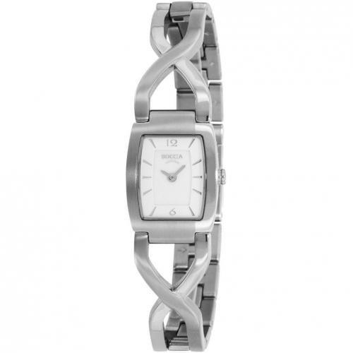 Boccia Titanium Uhr weiß