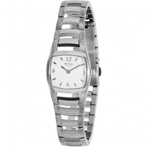 Boccia Uhr silber mit Titanarmband