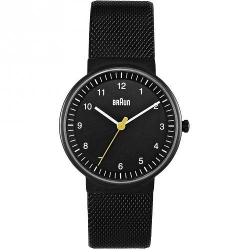 Braun Uhr schwarz