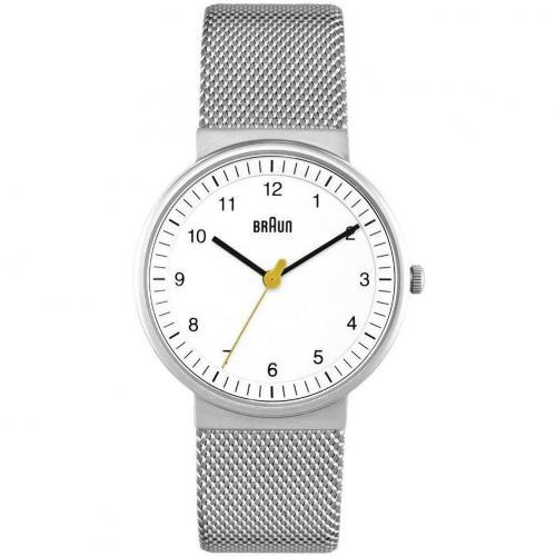 Braun Uhr silber