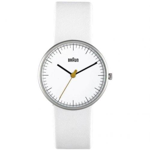 Braun Uhr weiß
