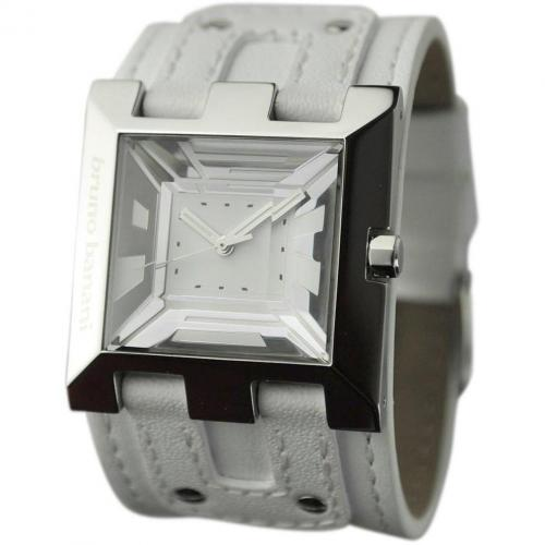 Bruno Banani Xt Square Uhr weiss
