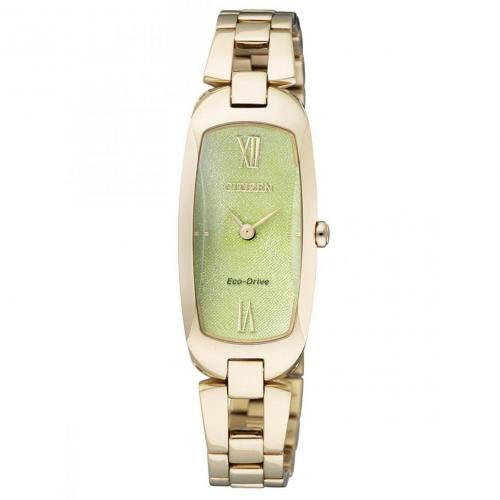 Citizen Lady Uhr gold/grün