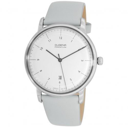Dugena Premium Dessau Uhr weiß/silber/hellblau