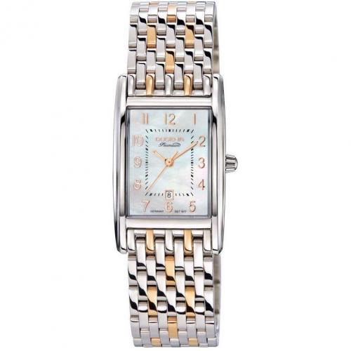 Dugena Premium Quadra Artdeco Uhr gold