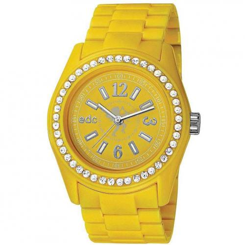 edc Damenuhr Disco Glam-Happy Yellow EE900172004