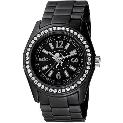 edc Damenuhr Disco Glam Midnight Black With Stones EE900172001