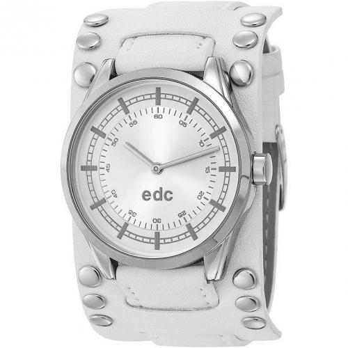 edc Damenuhr Raving Studs Disco White EE100132015