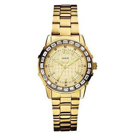 Guess Damenuhr Girly b Gold W0018L2