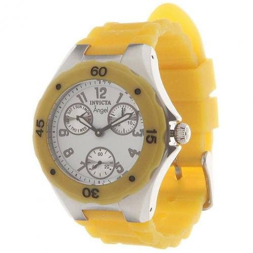 Invicta Chronograph yellow bis 30 bar wasserdicht