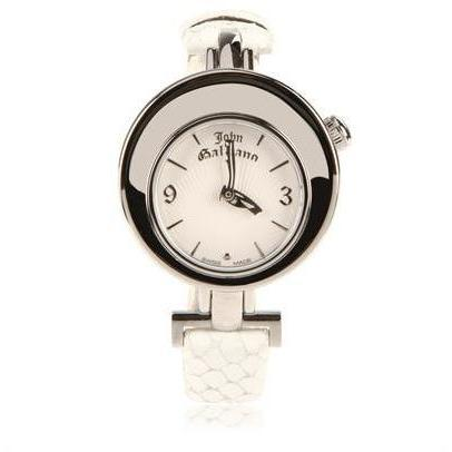 John Galliano Stahl Mit Pythonlederband Uhr