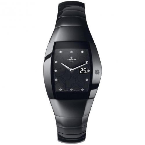 Junghans Aura Quadra Uhr schwarz
