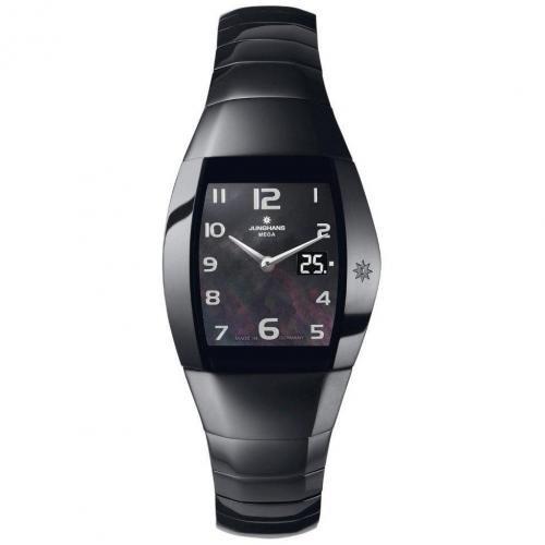 Junghans Aura Quadra Uhr schwarz mit ewigem Kalender