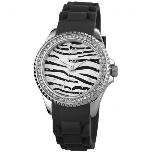 Just Uhr schwarz mit Kunststoffarmband