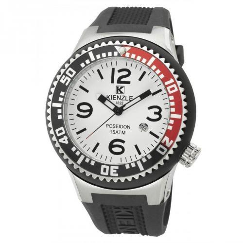 Kienzle Poseidon Uhr weiß/schwarz/rot