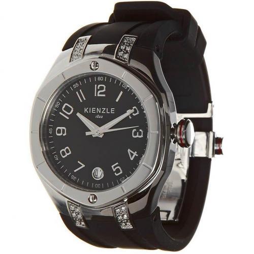 Kienzle Uhr schwarz mit Datumsanzeige