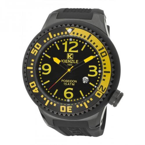 Kienzle Uhr schwarz mit Kunststoff-Armband