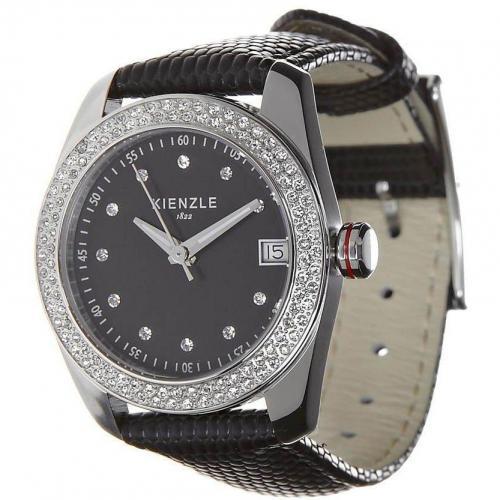 Kienzle Uhr schwarz mit Ronda 515 Quarzwerk