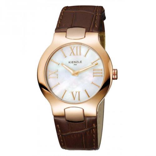 Kienzle Uhr weiß/gold/braun