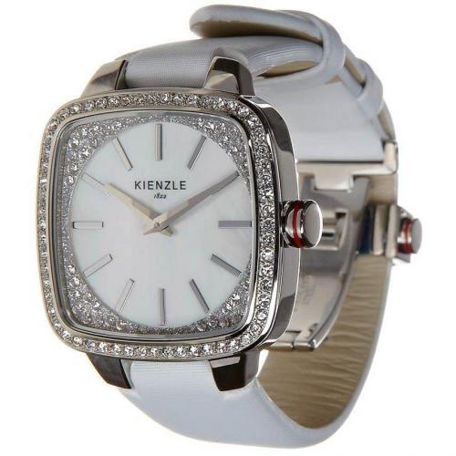 Kienzle Uhr weiß mit kleinem Aufbewahrungsbeutel