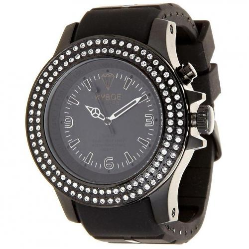 Kyboe Swarovski Series Uhr black