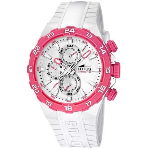 Lotus Uhr pink