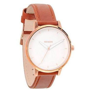 Nixon Damenuhr Kensington Leather Rose Gold / White NX00 2045