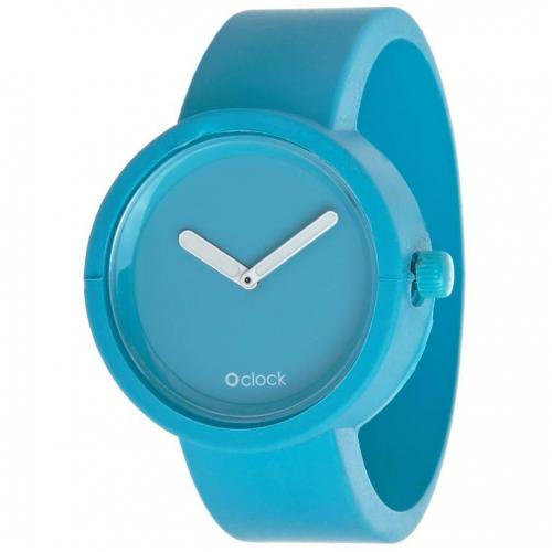 O clock Uhr light blue