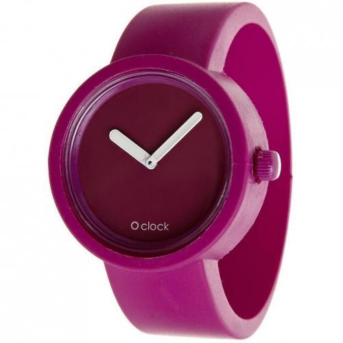 O clock Uhr purple violet