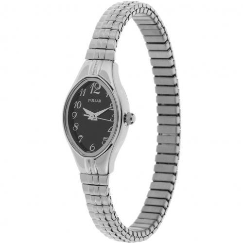 Pulsar Uhr silber mit Flex-Band