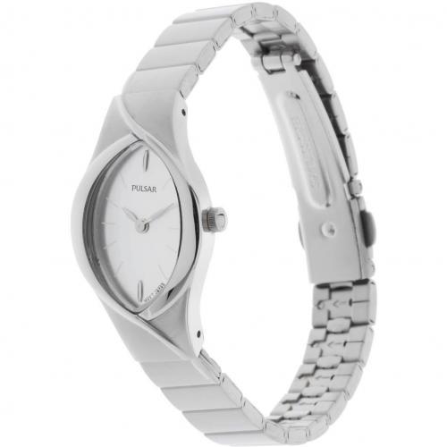 Pulsar Uhr silber mit gewölbtem Mineralglas