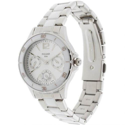 Pulsar Uhr silber mit Mineralglas