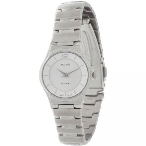 Pulsar Uhr silber mit minimalistischem Ziffernblatt