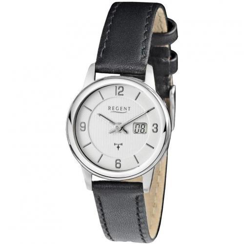 Regent Uhr schwarz mit Mineralglas
