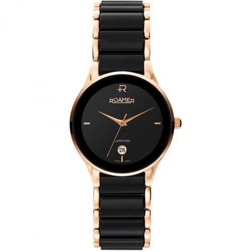 Roamer Ceraline Saphira Uhr schwarz/rotgold