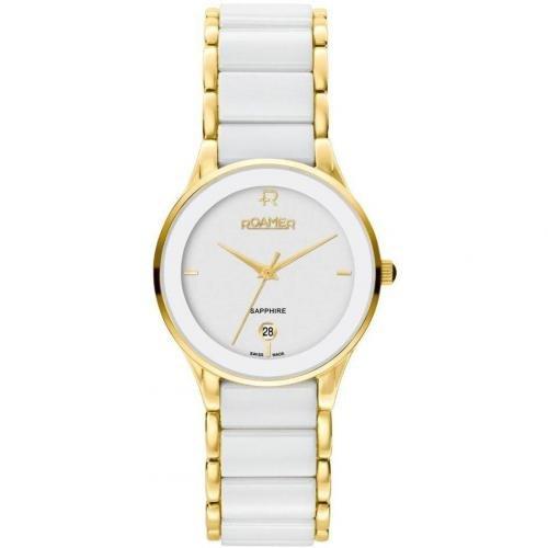 Roamer Ceraline Saphira Uhr weiß/gold