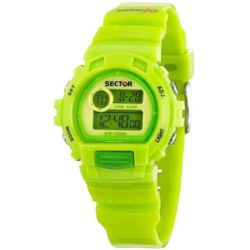 Sector Digitaluhr neon grün