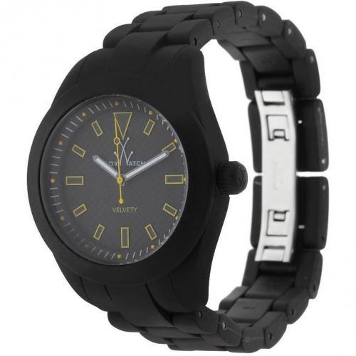 ToyWatch Uhr black mit gelben Details