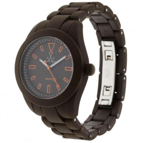 ToyWatch Uhr brown mit orange-farbenen Details