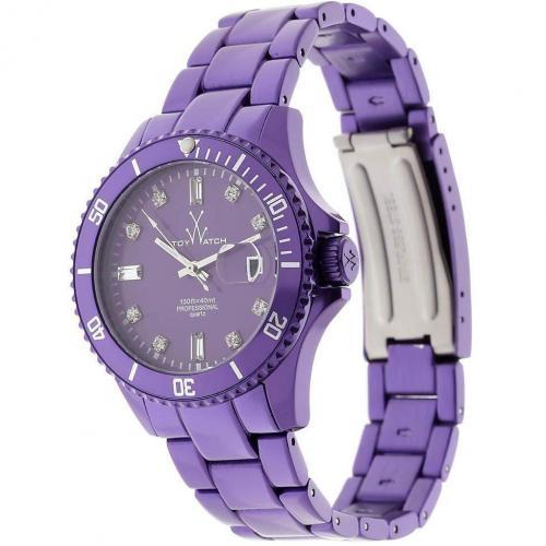 ToyWatch Uhr violet mit Mineralglas