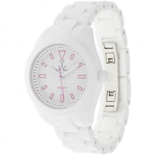 ToyWatch Uhr white mit Mineralglas