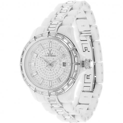 ToyWatch Uhr white mit Swarovski Kristallen