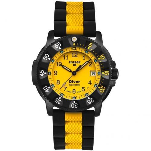 Traser H3 Lady Diver Uhr gelb